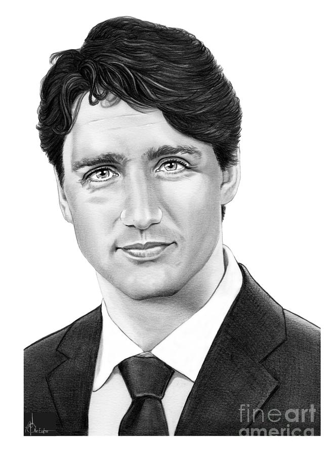 Prime Minister Justin Trudeau Drawing By Murphy Elliott