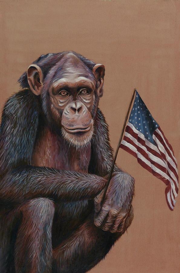 Primitive Patriotism Painting