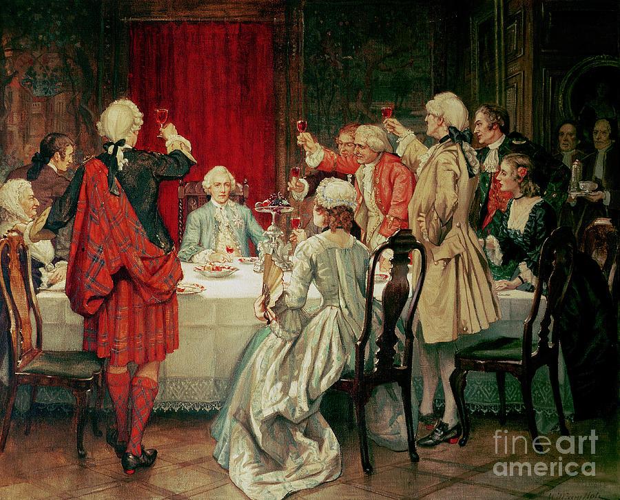 Gilt Painting - Prince Charles Edward Stuart In Edinburgh by William Brassey Hole