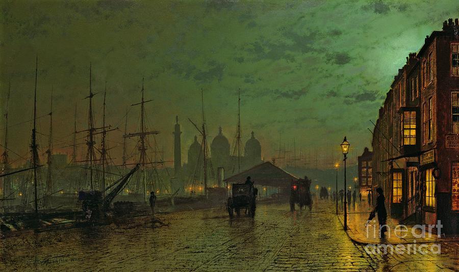 Prince Painting - Princes Dock Hull by John Atkinson Grimshaw