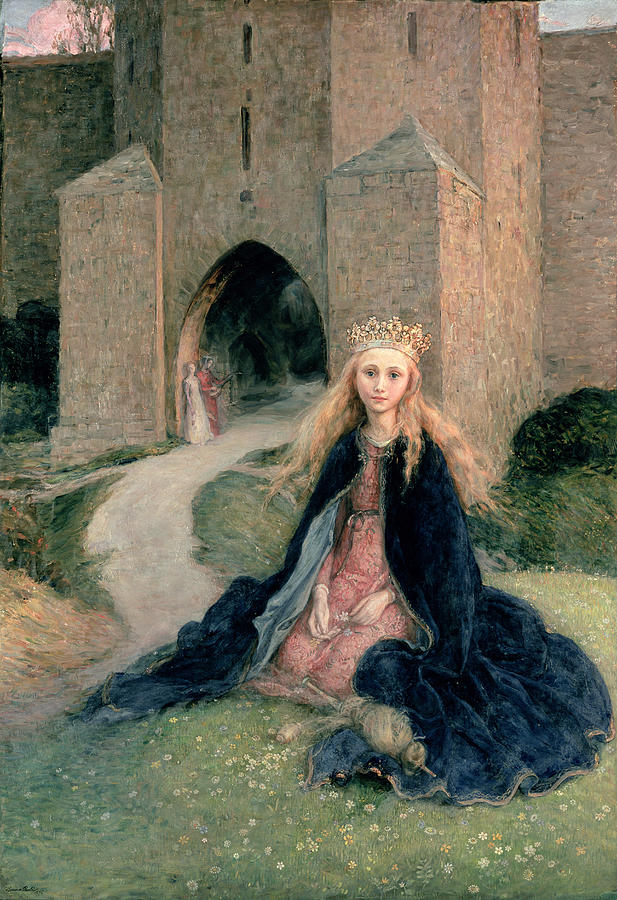 Princess With A Spindle Painting - Princess With A Spindle by Hanna Pauli