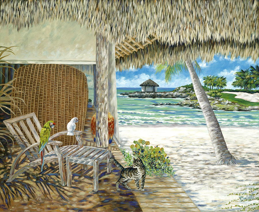 Private Island Painting - Private Island by Danielle  Perry