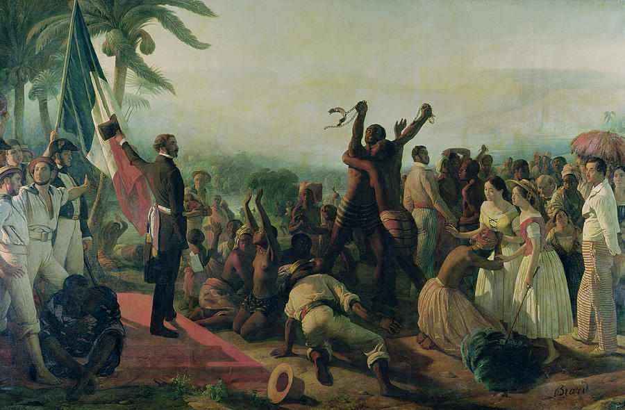 Proclamation Painting - Proclamation Of The Abolition Of Slavery In The French Colonies by Francois Auguste Biard