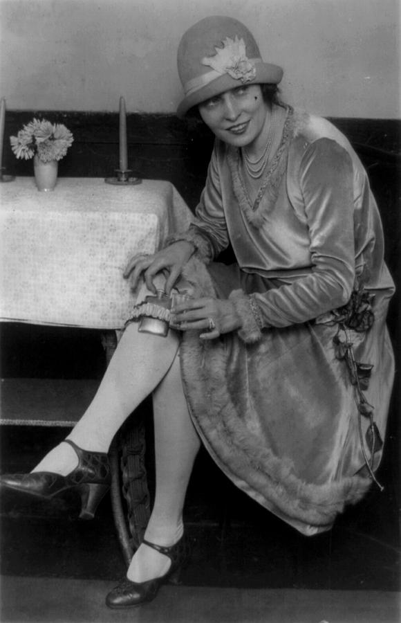 1920s Candid Photograph - Prohibition, Miss Rhea Seated by Everett