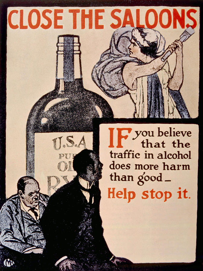 Prohibition Poster, 1918 Photograph
