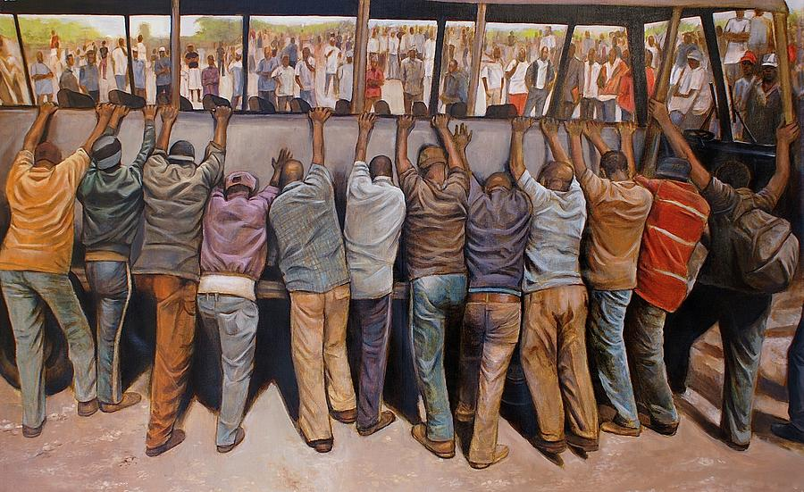 Men Painting - Protest by Curtis James