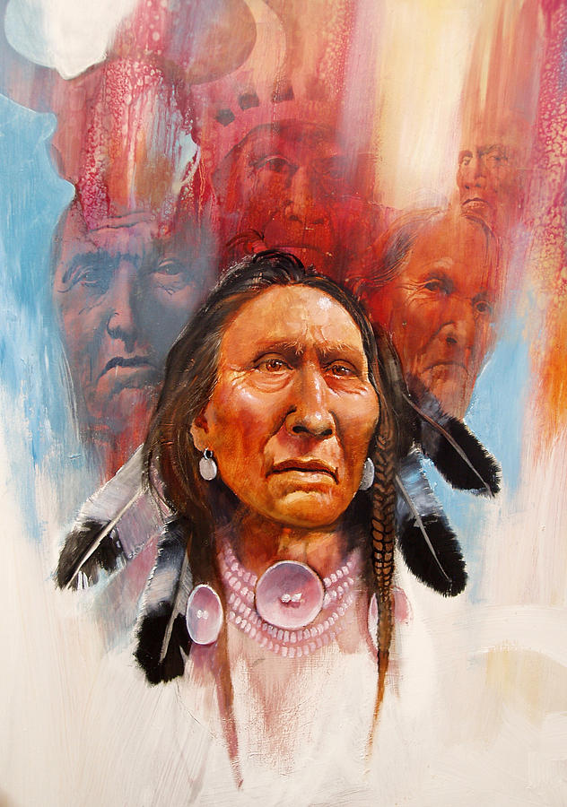Native American Painting - Proud Warrior by Robert Carver