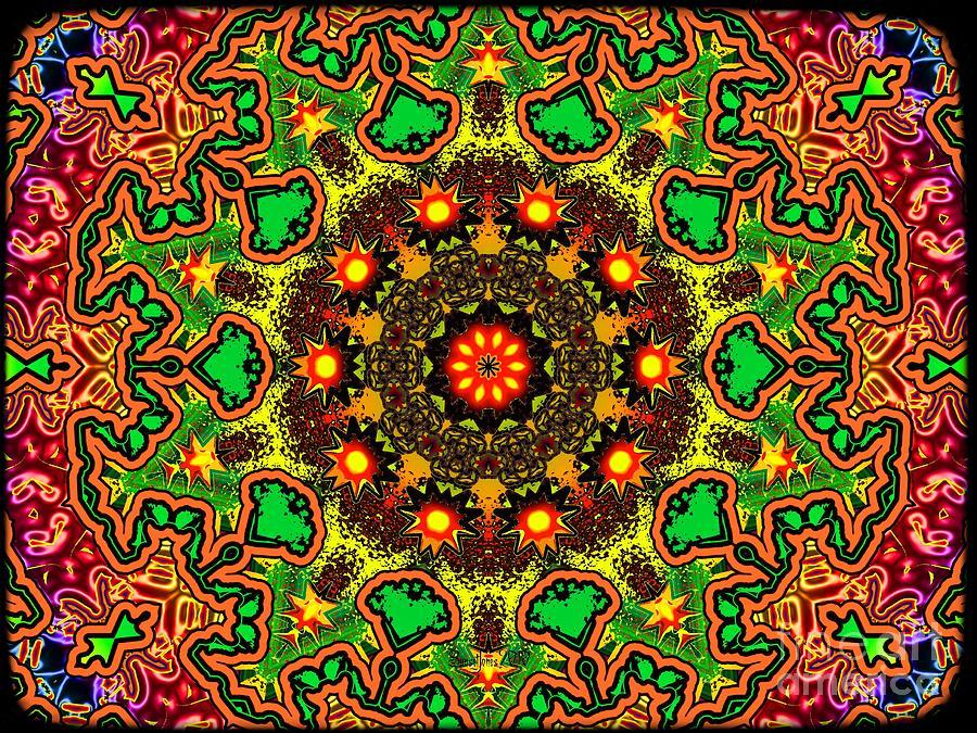 Psychadelic Digital Art - Psych by Robert Orinski