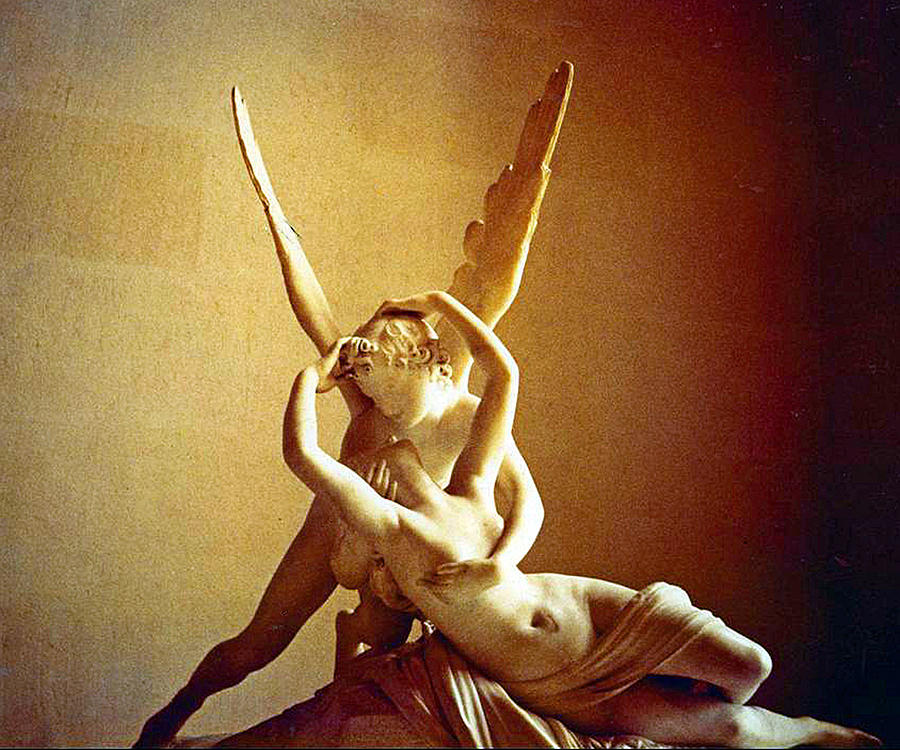 Psyche Photograph - Psyche And Cupid by Michael Durst