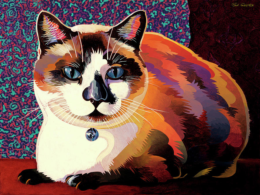 Cat Paintings Painting - Puddin by Bob Coonts