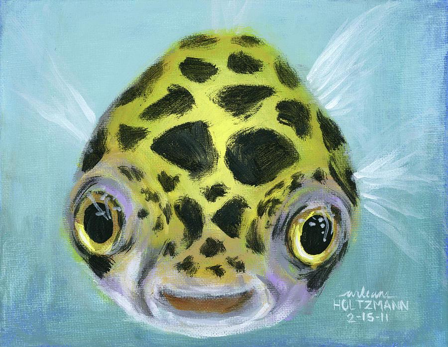 Puffy painting by arleana holtzmann for Puffer fish art