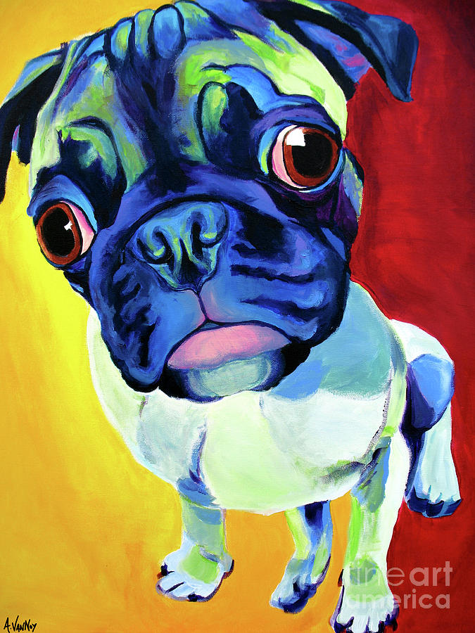 Pug Painting - Pug - Lola by Alicia VanNoy Call