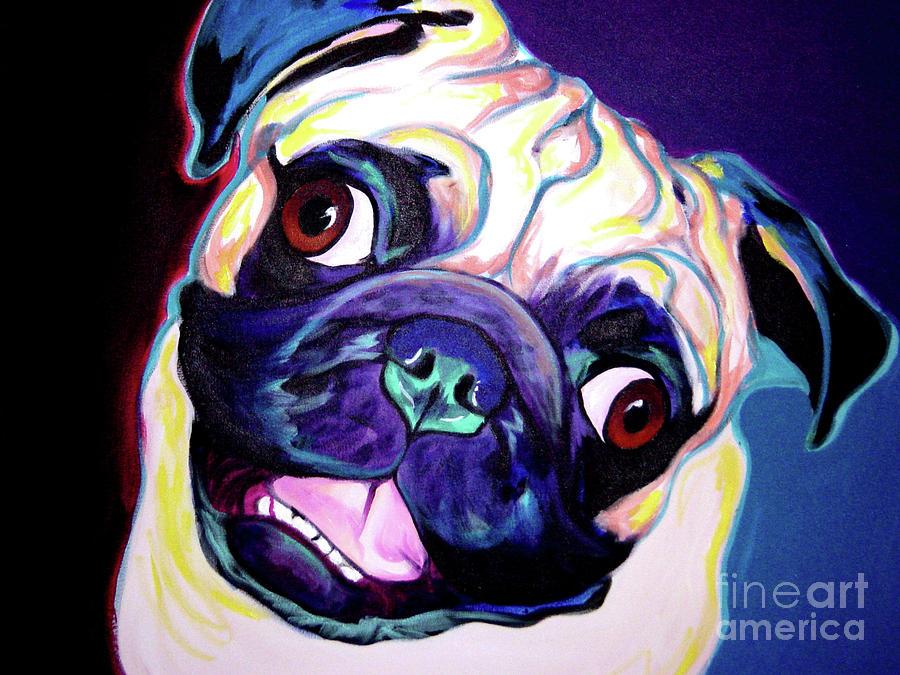 Pug - Rider Painting