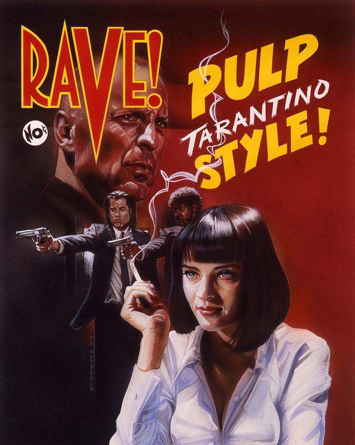 Pulp Fiction Painting By Tim Scoggins
