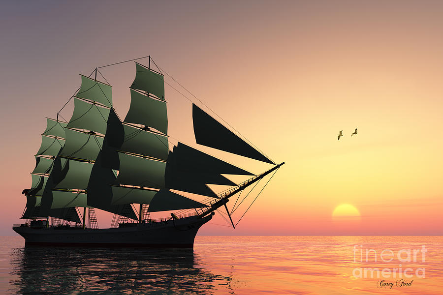 Sailing Painting - Pulse Of Life by Corey Ford