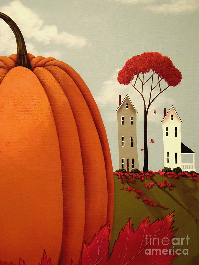 Art Painting - Pumpkin Valley by Catherine Holman