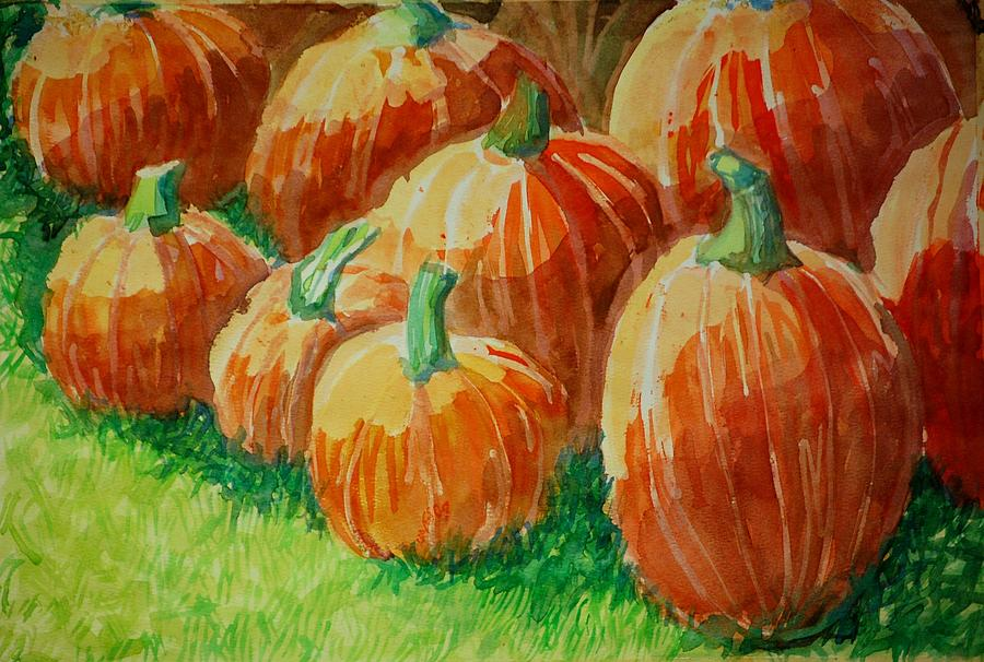 Pumpkin Painting - Punkins by Jame Hayes