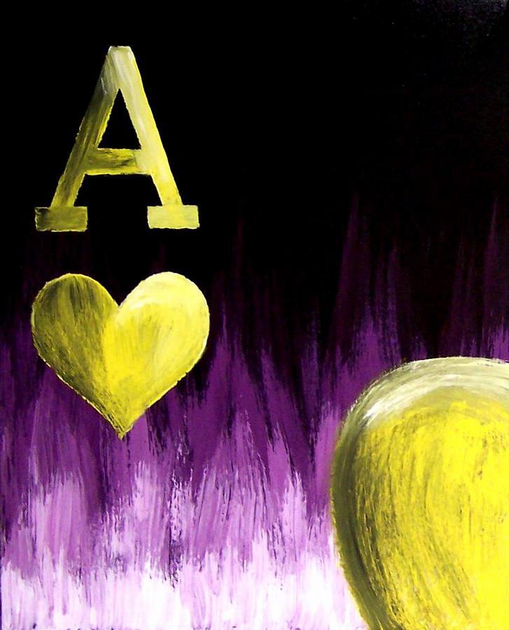 Purple Aces Poker Art3of4 Painting