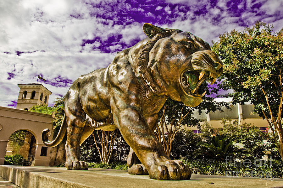 Statue Photograph - Purple And Gold by Scott Pellegrin