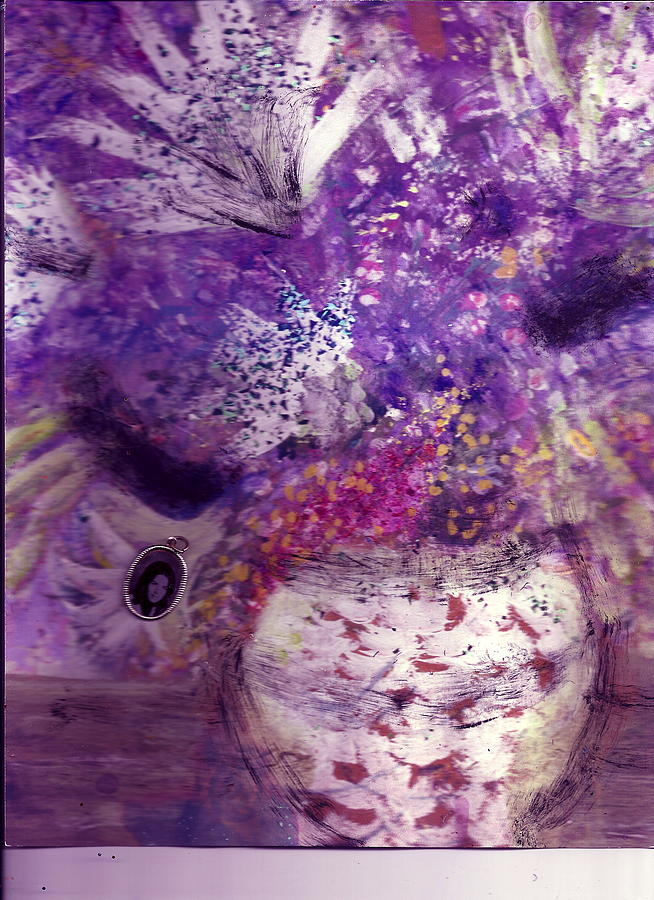 Bouquet Of Flowers Painting - Purple And White Delight by Anne-Elizabeth Whiteway