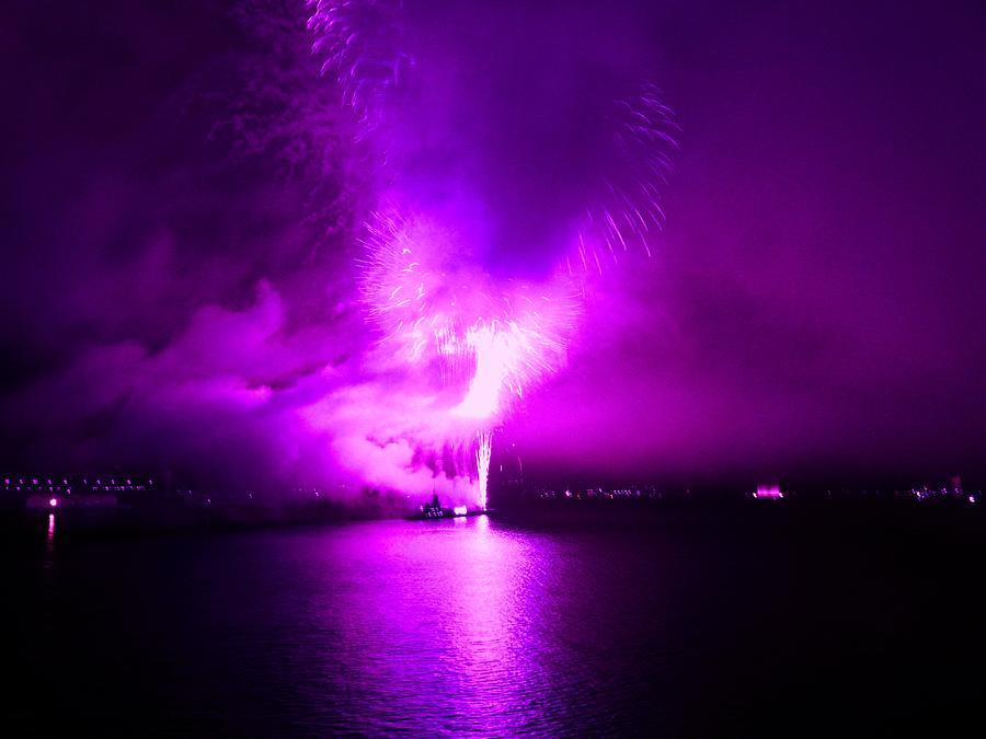 Fireworks Photograph - Purple Haze by Kendall Eutemey