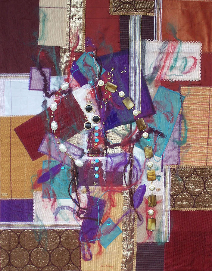 Abstract Tapestry - Textile - Purple Passion by Sue Gilliam