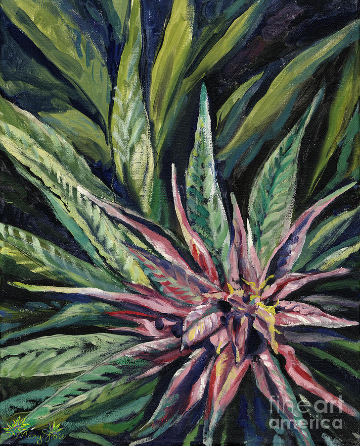 Marijuana Painting - Purple Power by Mary Jane