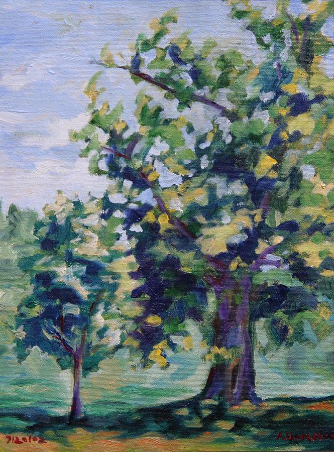 Tree Painting - Purple Tree by Andrew Danielsen
