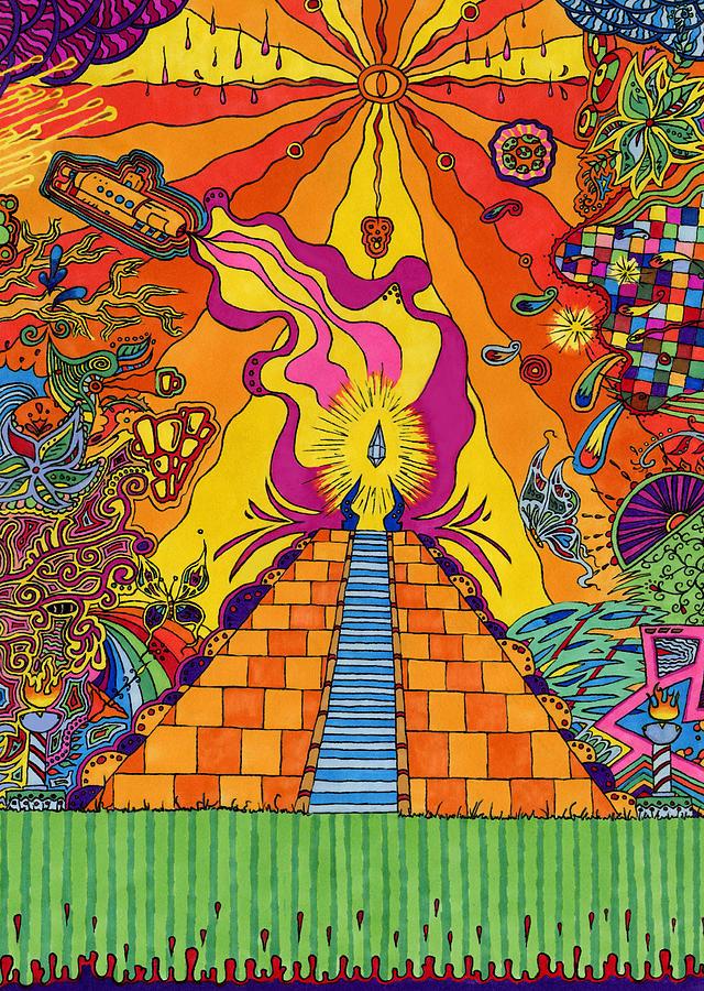 Pyramid Drawing - Pyramid by Evan Purcell