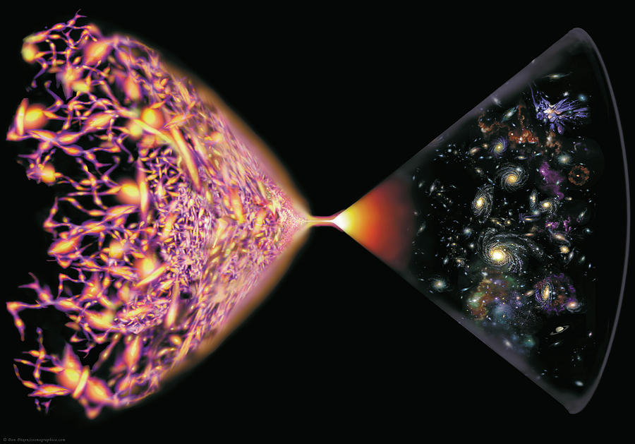 Dark Energy Painting - Quantum Cosmos by Don Dixon