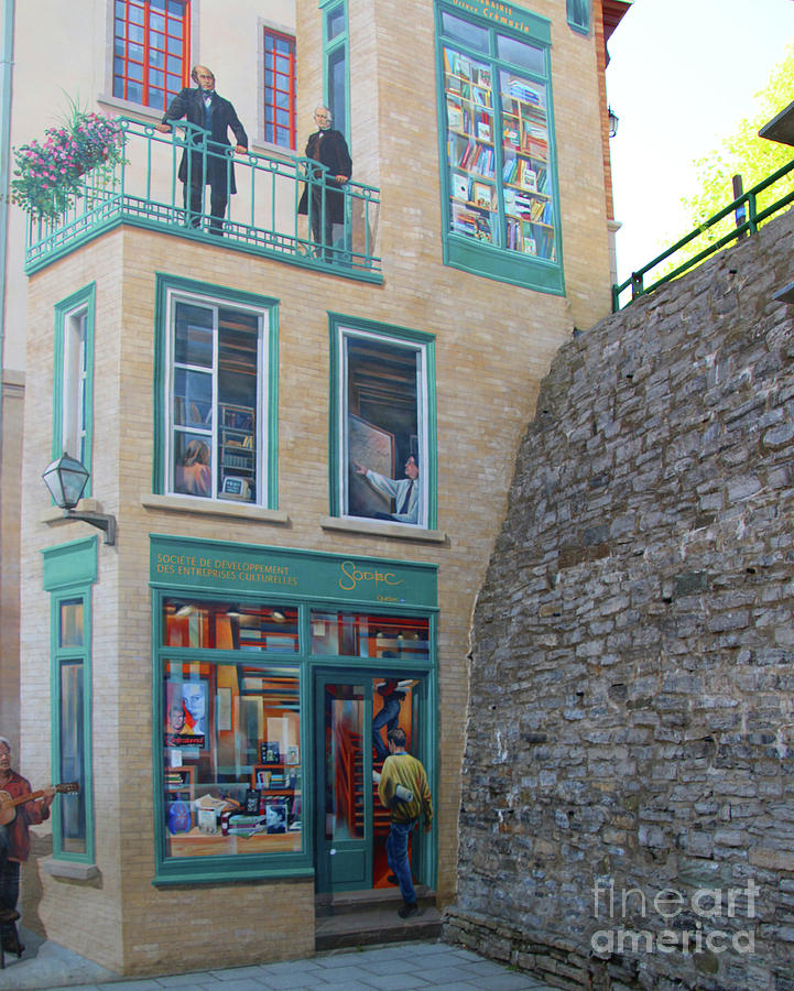 Quebec city mural 6436 photograph by jack schultz for Mural quebec city