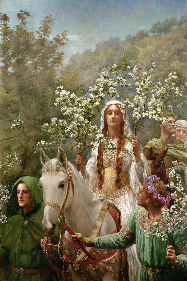 Queen Painting - Queen Guinevere by John Collier