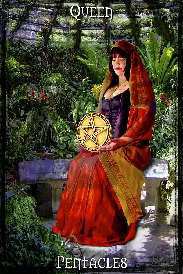 Divine Digital Art - Queen Of Pentacles by Tammy Wetzel