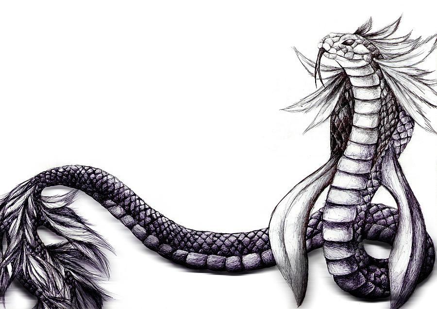 Quetzalcoatl Drawing by Fliss Ellis
