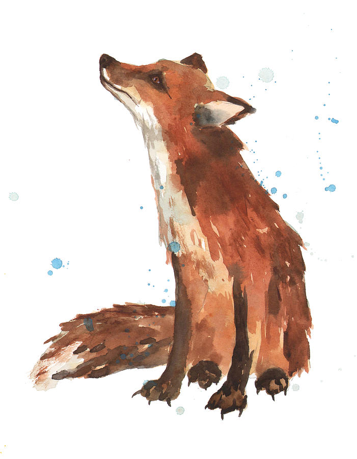 Fox Painting - Quiet Fox by Alison Fennell
