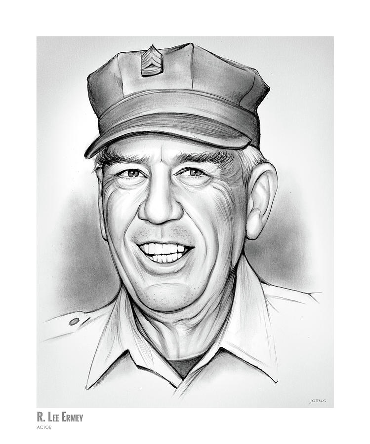 R. Lee Ermey Drawing