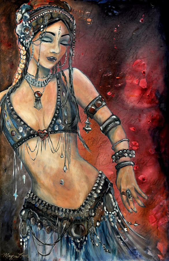 Bellydance Painting - Rachel by Margaret Eve