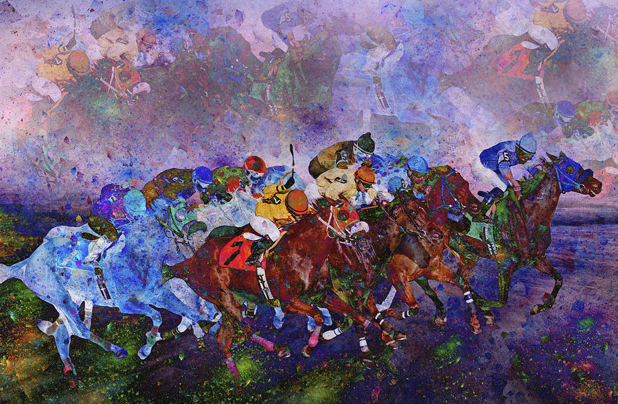 Racing With Ghosts Digital Art