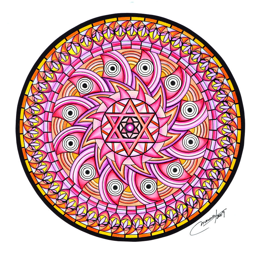 Mandala Painting - Radiant Sun by Marcia Lupo