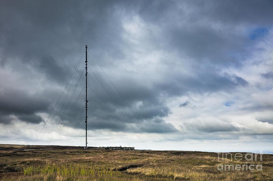 Antenna Photograph - Radio Tower In Field by Jon Boyes