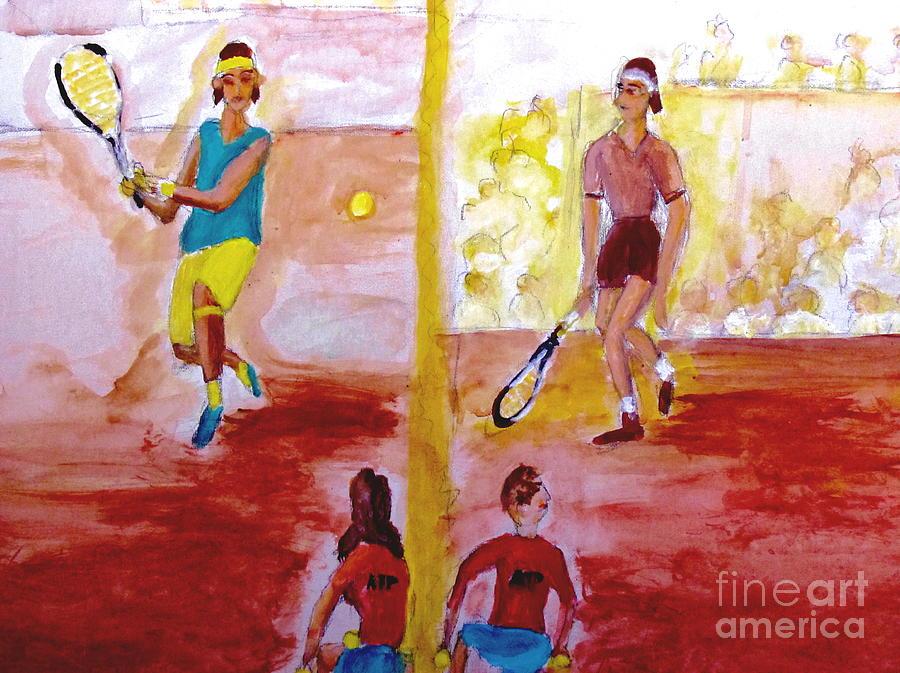 Rafa Versus Federer Painting