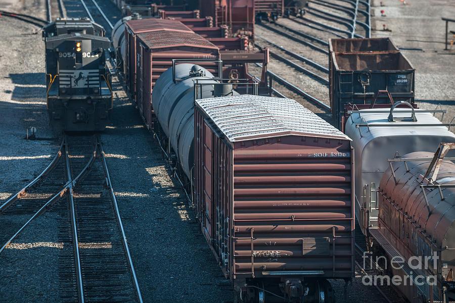 Rail Yard Photograph