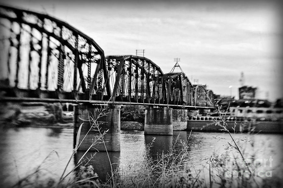 Black & White Photograph - Railroad Bridge by Scott Pellegrin
