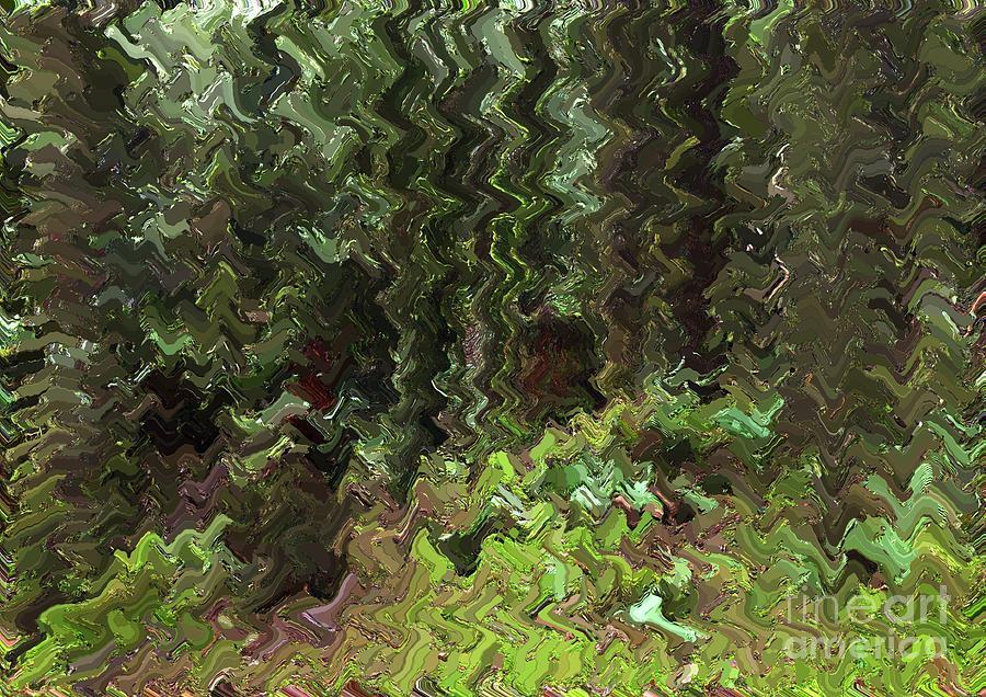 Rain Forest Abstract Digital Art