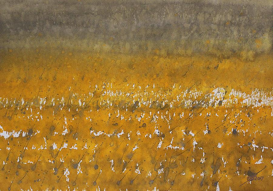 Rain Over The Marsh Painting