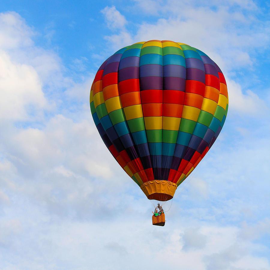 Rainbow Photograph - Rainbow Balloon by Gary Wilson