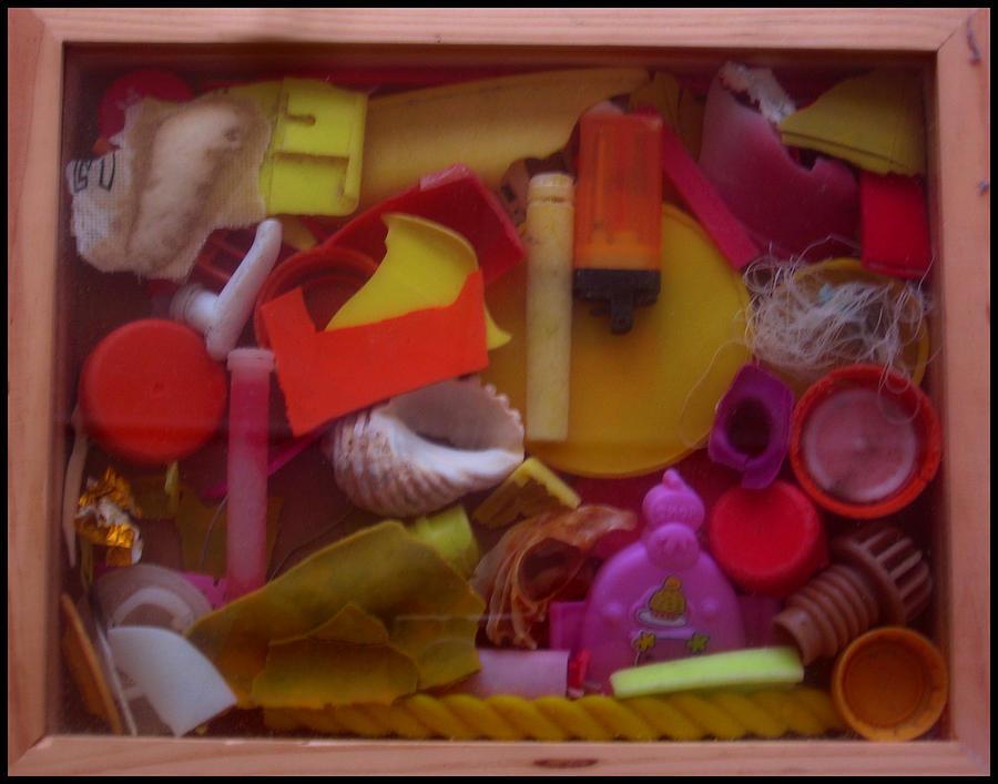 Beach Sculpture - Rainbow Beach Box I by Adam Kissel