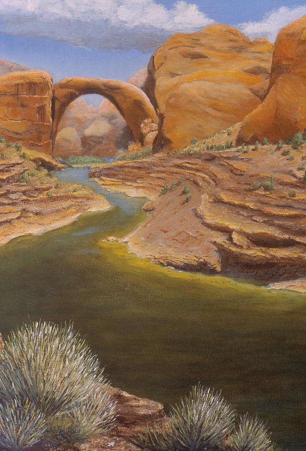 Rainbow Bridge Painting - Rainbow Bridge by Jerry McElroy