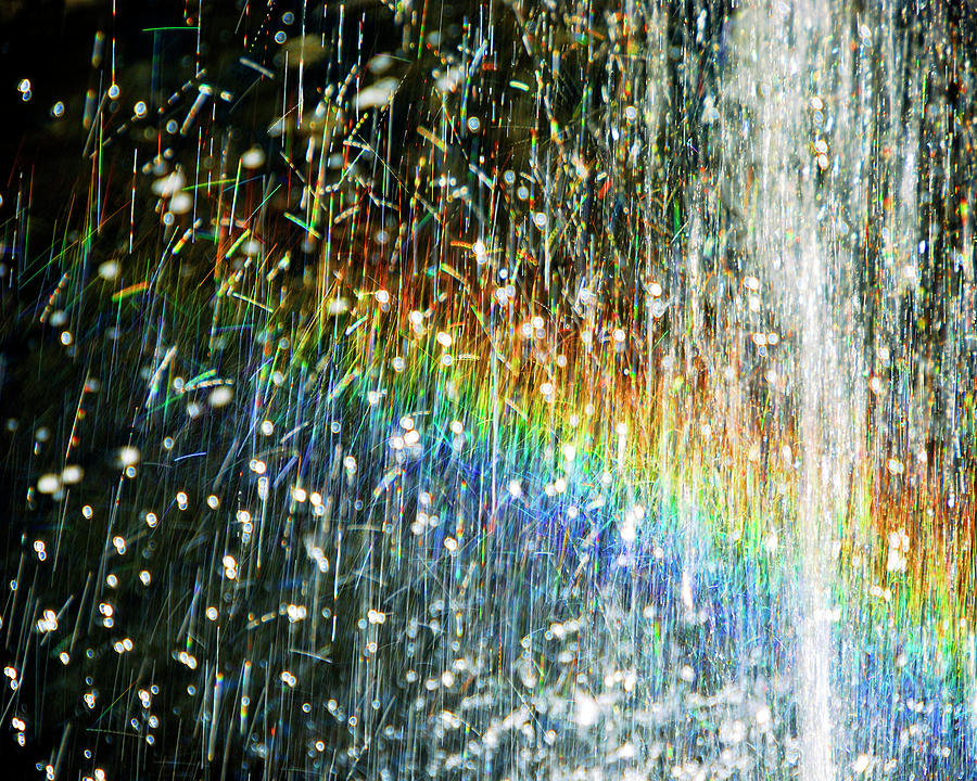 Fountain Photograph - Rainbow Fountain by Francesa Miller