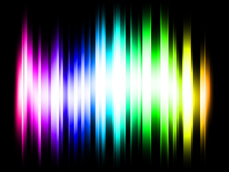 Rainbow Digital Art - Rainbow Light Rays by Michael Tompsett